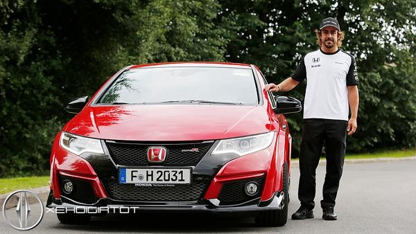 Honda Civic Type R va Fernando Alonso