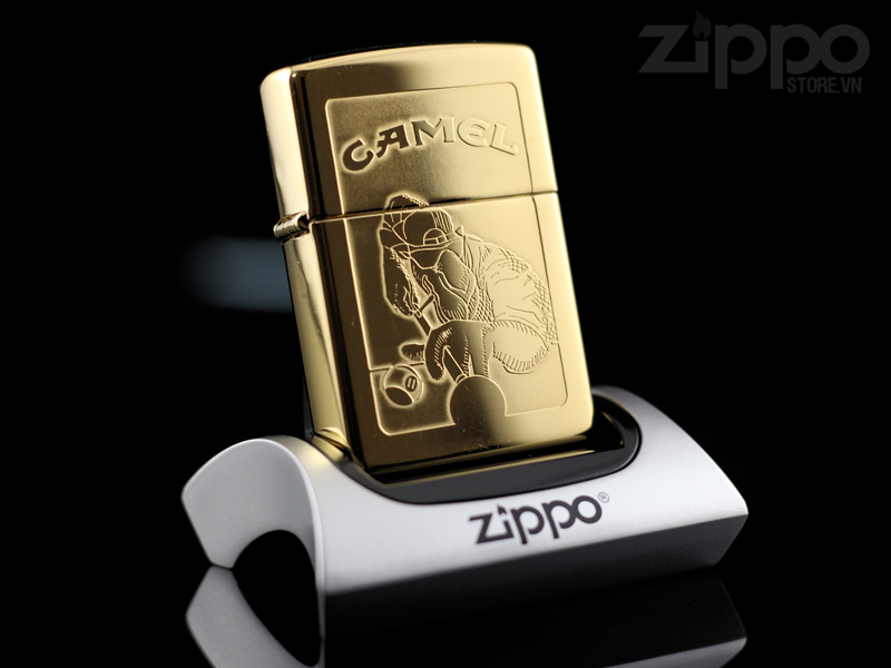 Zippo Camel Sureshot Gold Plated 22k
