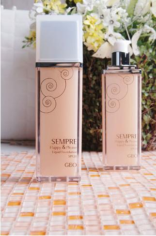 Kem nền trang điểm Geo Sempre Happy & Please Liquid Foundation