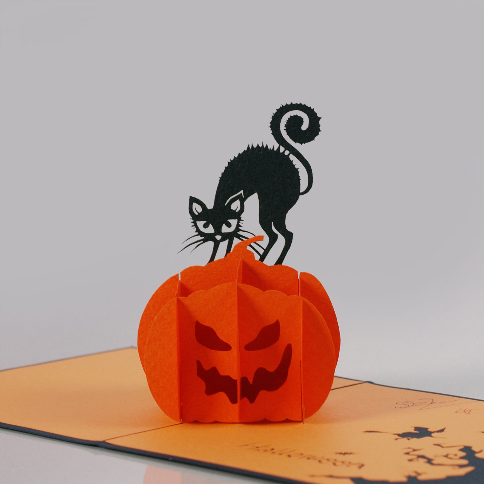 greeting card haloween 3d