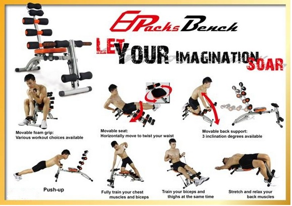 may tap cơ bung pack bench mofit