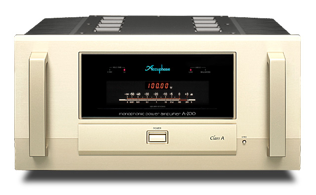 Mặt trước amply công suất Accuphase A 200