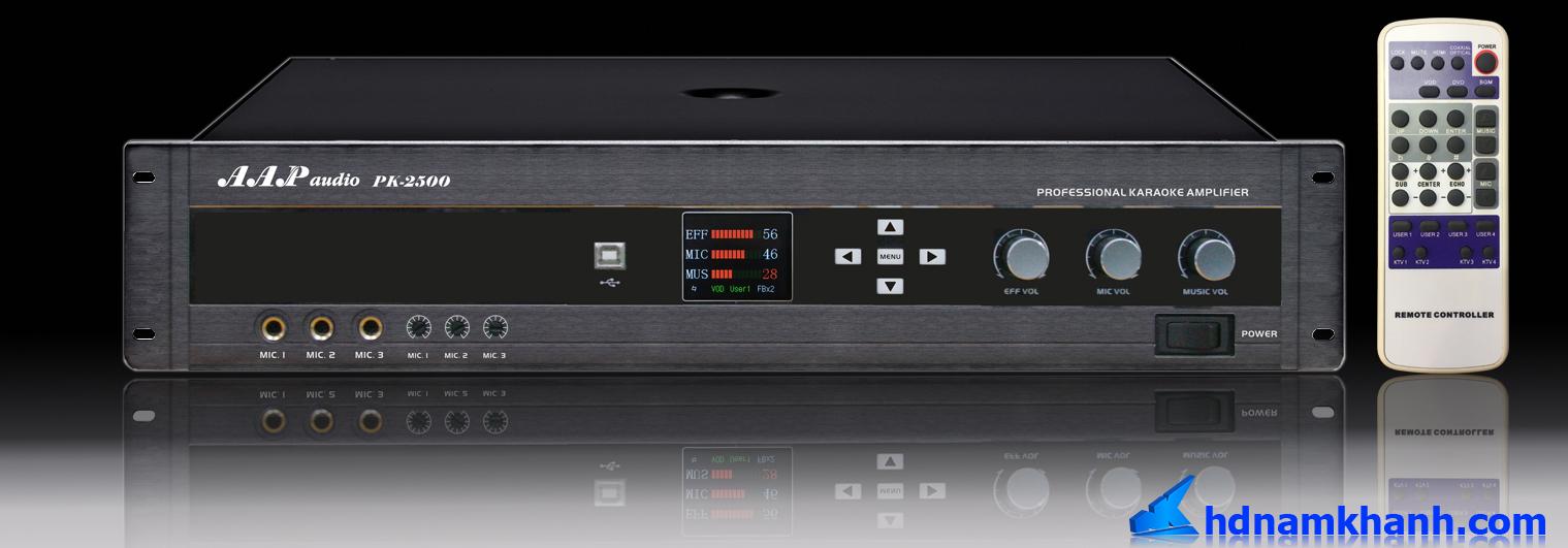 Amply Karaoke AAP Audio PK 2500, dòng Amply karaoke Kỹ thuật số