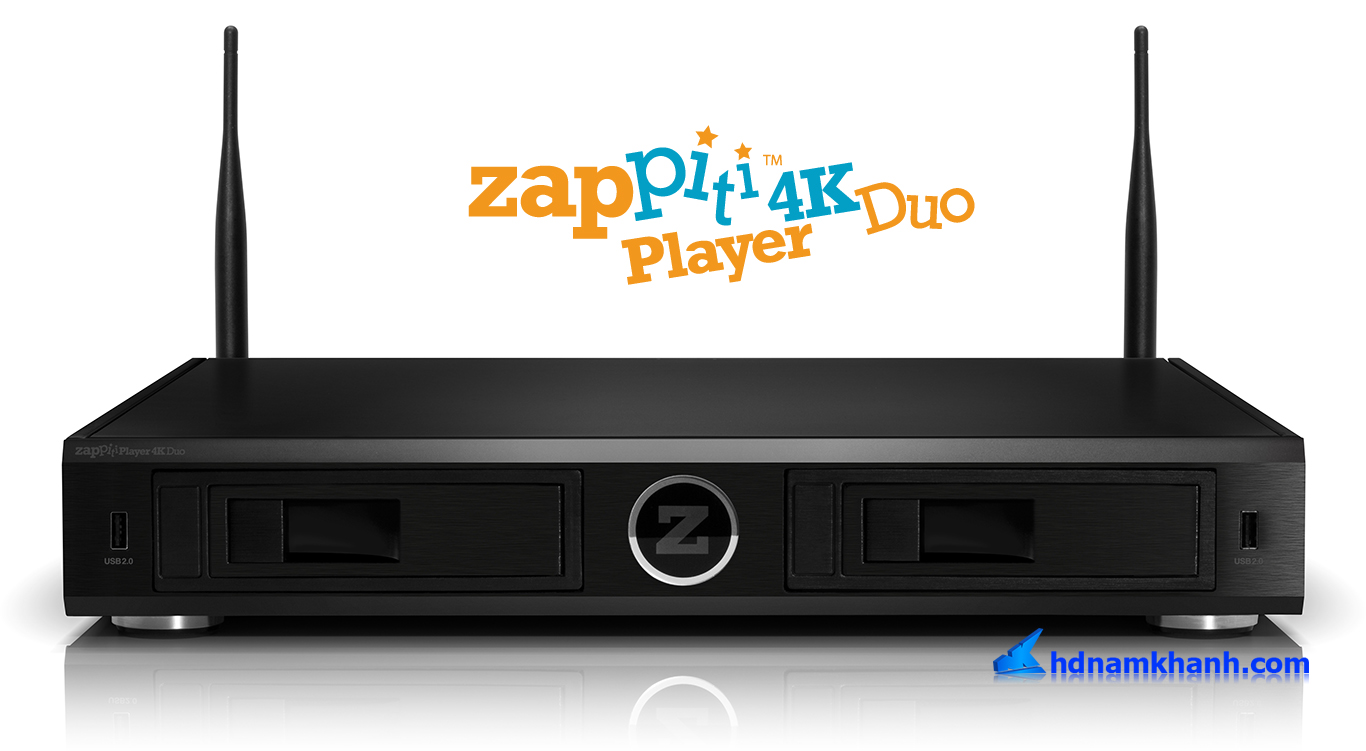 Đầu phát Zappiti Duo 4K, HD Player Cao Cấp của năm 2017
