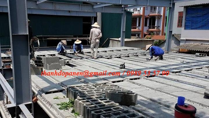 Sàn bê tông nhẹ được kết hợp để giảm tải tông thể công trình