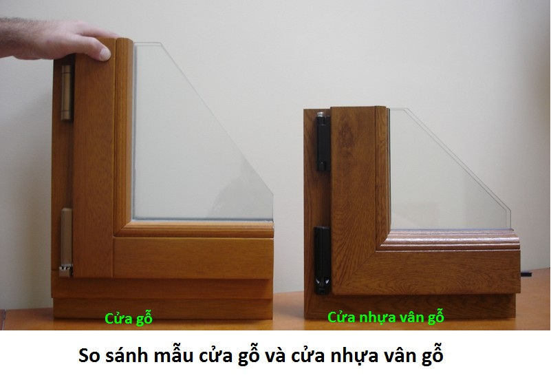 Cửa nhựa lõi thép vân gỗ| cua nhua loi thep upVC van go