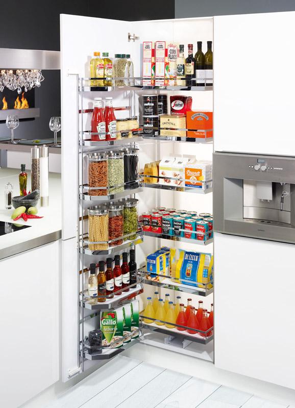 Tủ đồ khô 4 tầng cao cấp cánh 600 - Phụ kiện tủ bếp Eurogold