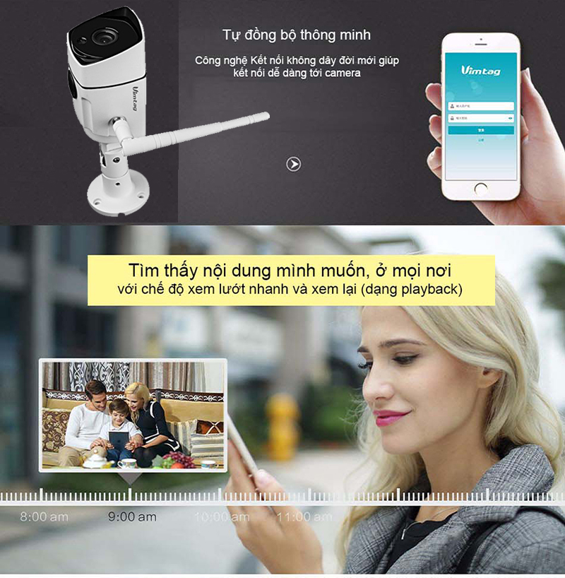 Vimtag camera ip wifi