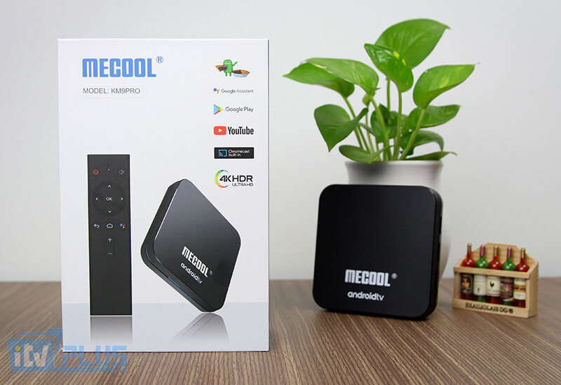 tv box mecool km9 pro android tv 9.0 ram 4gb rom 32gb kem voice remote hinh 01