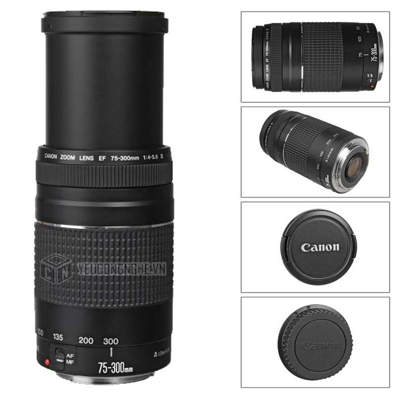 Ống kính Canon EF75-300mm f/4-5.6 III USM lens tete zoom
