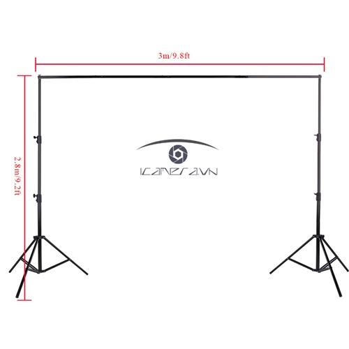 Khung phông di động chuyên nghiệp chụp ảnh, quay phông key cỡ lớn 2.8x3.0 m