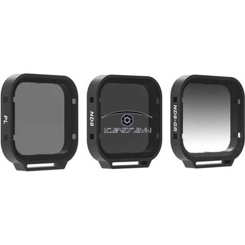Venture Filter 3-Pack Set 3 Filter cho Gopro Hero 5 Black Polarizer Filter, ND8, GND8