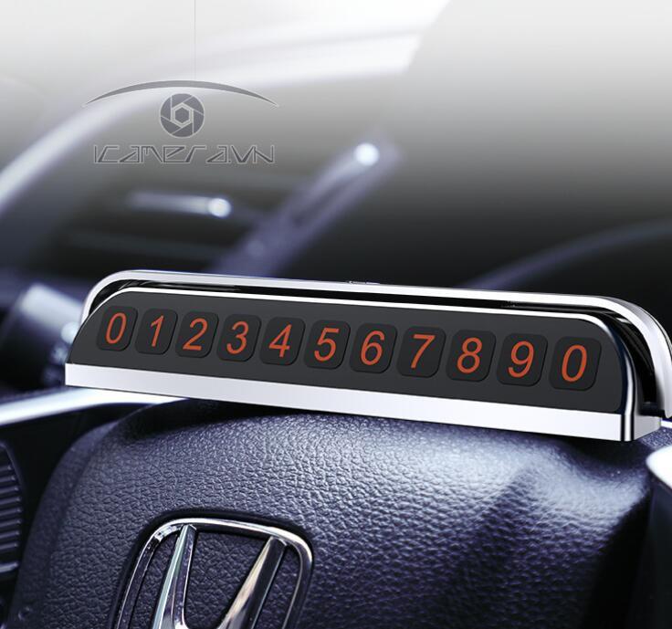 Thẻ số điện thoại đặt taplo xe hơi có nắp đóng mở Joyroom JR-ZS173