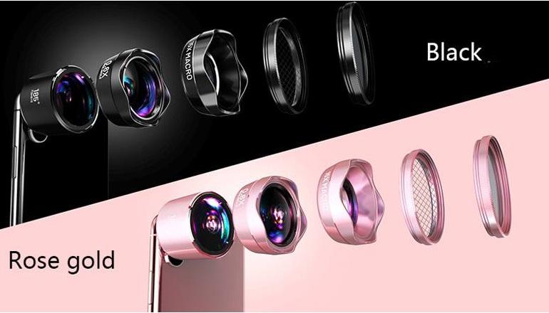 Ống kính 5 trong 1 LIEQI tạo hiệu ứng chụp ảnh cho smartphone LQ Pro-185