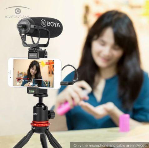 Mic thu âm Boya BY-BM2021 Super Cardioid đa năng cho điện thoại, máy ảnh, máy quay