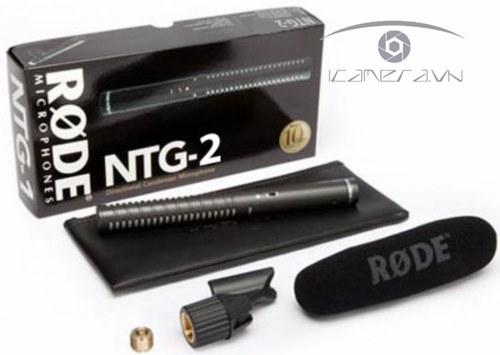 Mic thu âm Rode NTG2 phỏng vấn Condenser Shotgun Microphone