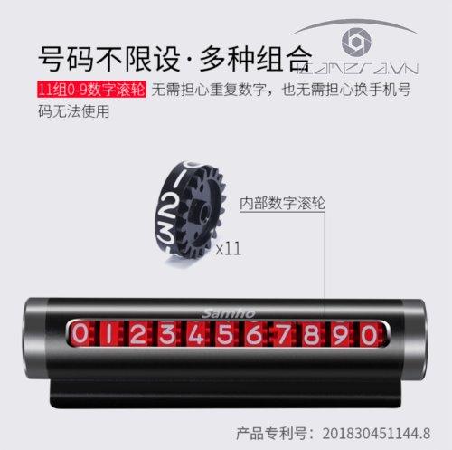 Bảng số điện thoại gắn táp lô ô tô khi đỗ xe loại xoay số SAHA0011