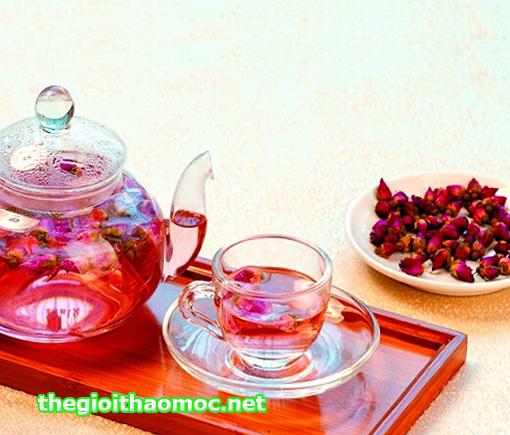 ấm trà hoa Hồng đẹp