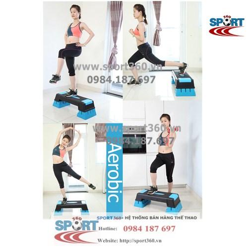 Bục tập aerobic cao cấp 3 mức điều chỉnh màu xanh
