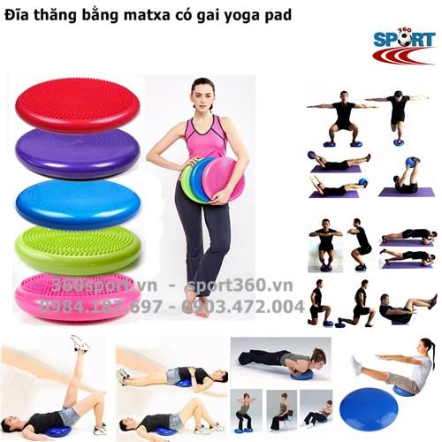 Đĩa thăng bằng matxa có gai yoga pad