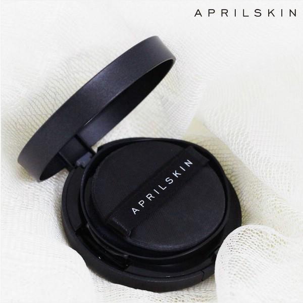 Kết quả hình ảnh cho Cushion April Skin Black Magic Snow #21