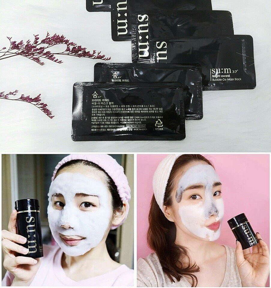 Mặt nạ sủi Su:m37 Bright Award Bubble De Mask Black