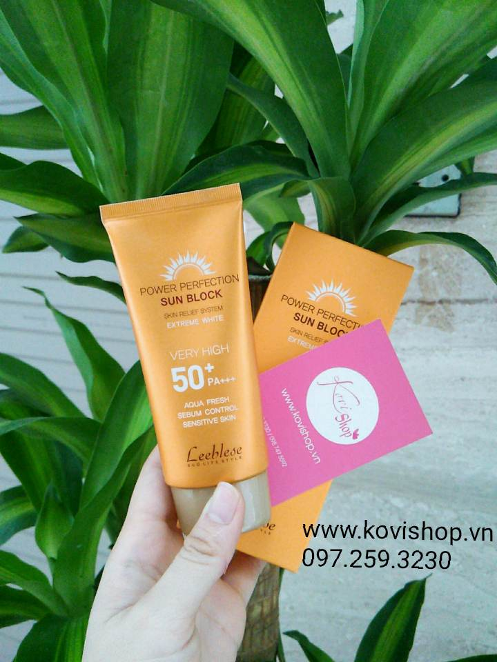 Kem Chống Nắng Leeblese Power Perfection Sun Block 50+PA+++