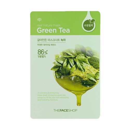 Mặt Nạ Miếng Chiết Xuất Trà Xanh The Face Shop - Real Nature Green Tea Face Mask