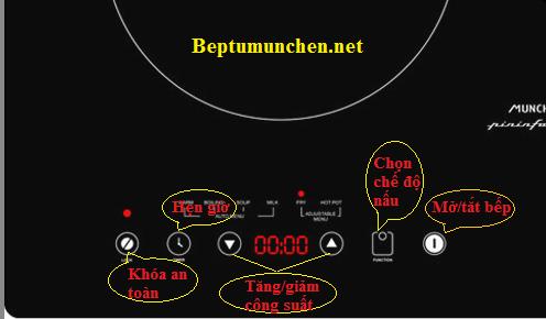 Hướng dẫn sử dụng bếp từ Munchen đơn giản, chi tiết nhất