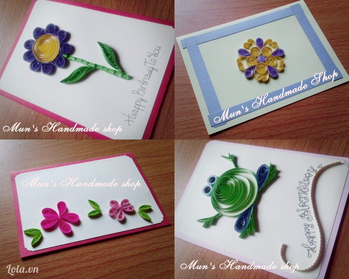 thiệp giáng sinh quilling 7