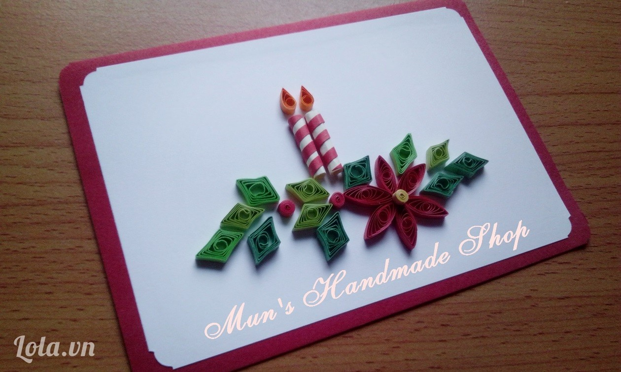 thiệp giáng sinh quilling 5
