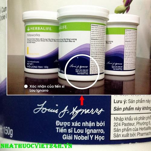 sữa niteworks herbalife hỗ trợ tim mạch