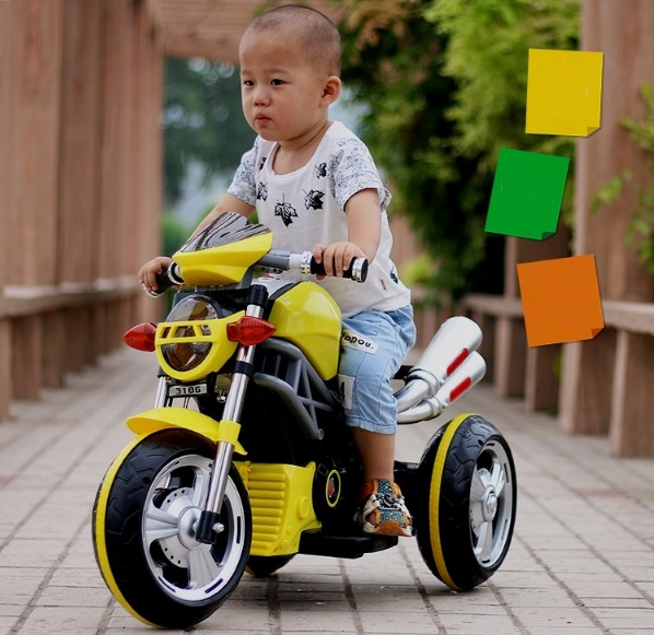 Xe moto điện trẻ em kiểu dáng xe đua 3186