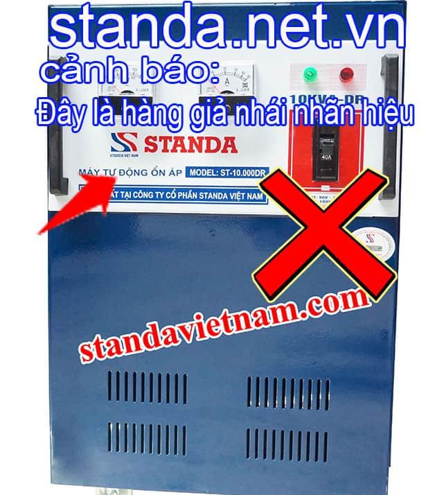 Đây là Ổn áp Standa 10kVA giả nhái nhãn hiệu do Công ty Cổ phần Standa Việt Nam sản xuất trái pháp luật